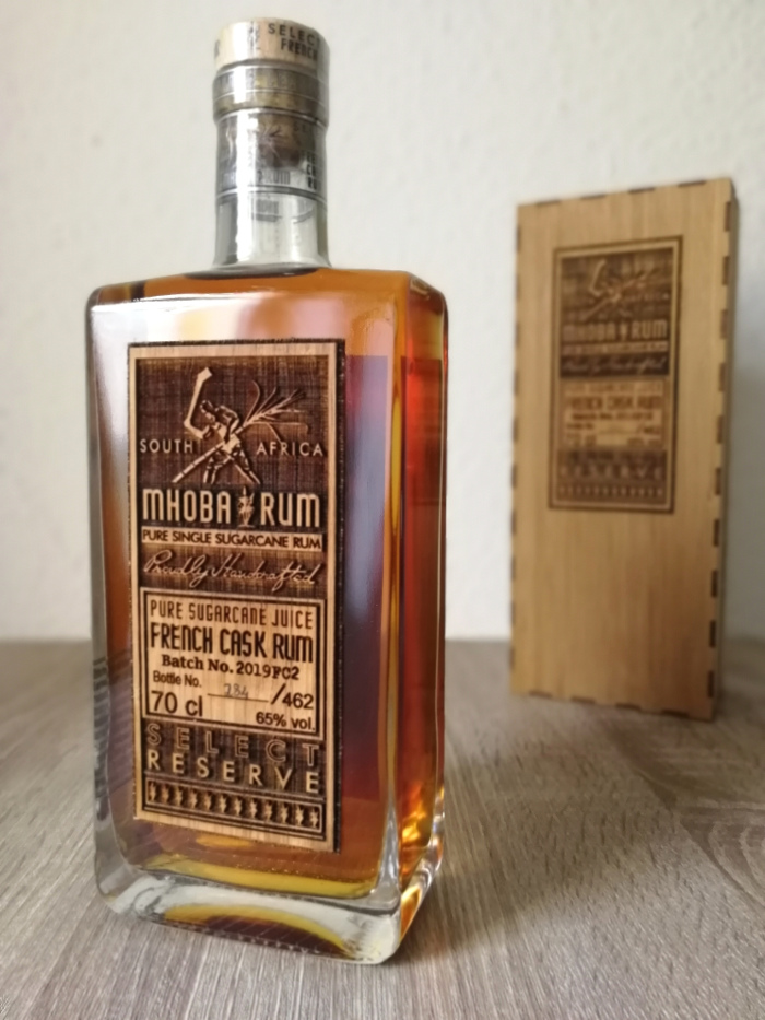 Mhoba Pure Single Sugarcane Juice French Cask Rum Select Reserve