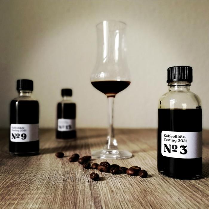 Kaffeelikör-Tasting 2021 Glas