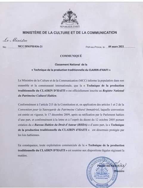 Clairin-Produktionsmethode als Kulturerbe in Haiti