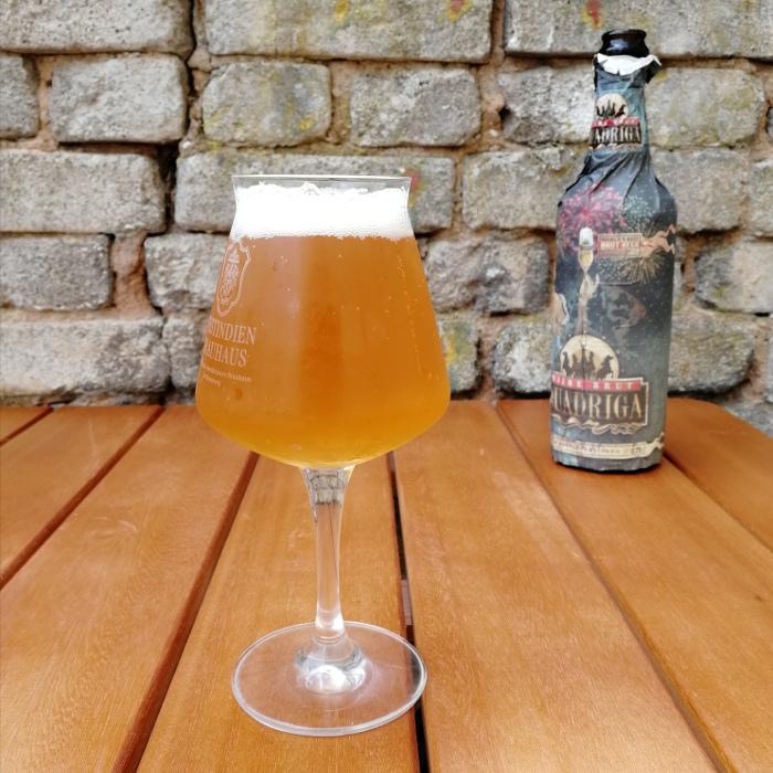 Rügener Insel-Brauerei Quadriga Bière Brut Glas