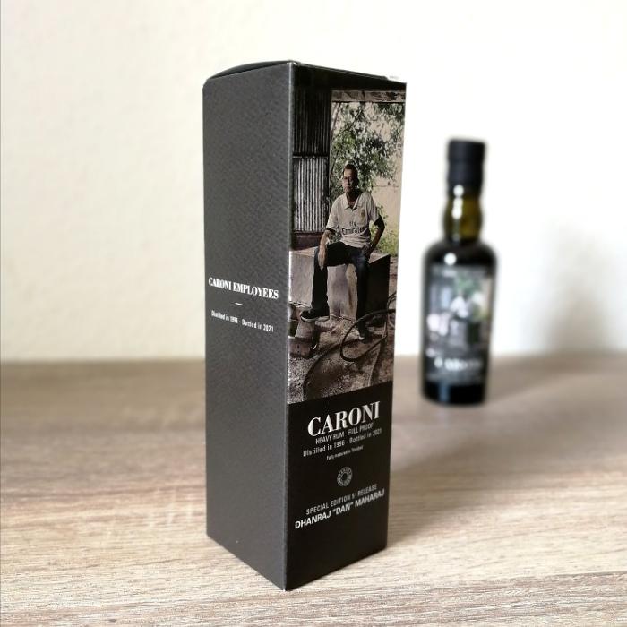 """Velier Caroni Heavy Rum """"Employees"""" Special Edition 5th Release (VSGB) Dhanraj """"Dan"""" Maharaj Karton"""